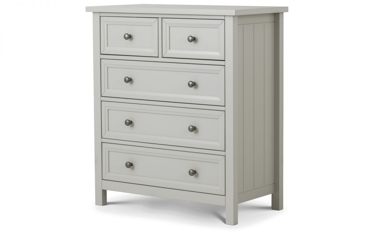 Maine Dove Grey 3 + 2 Drawer Chest £209