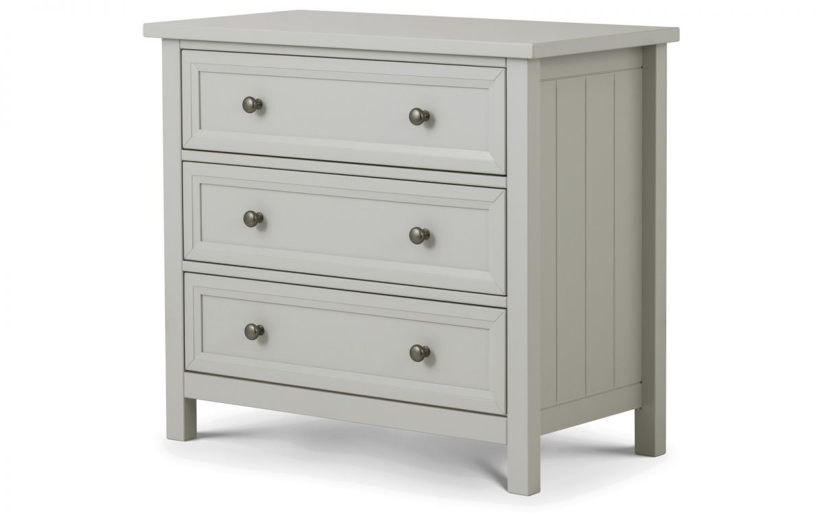 Maine Dove Grey 3 Drawer Chest  by Julian Bowen £184.99