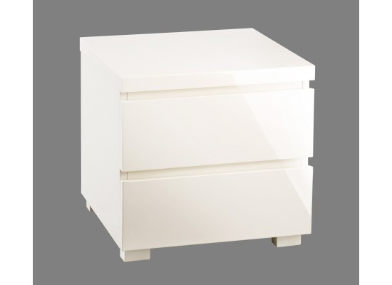 LPD PURO CREAM HIGH GLOSS BEDSIDE