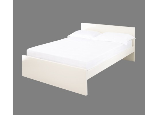 LPD PURO CREAM HIGH GLOSS DOUBLE BED FRAME
