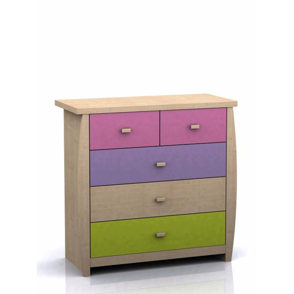 GFW SYDNEY Childrens 3+2 Drawer Chest In Pink