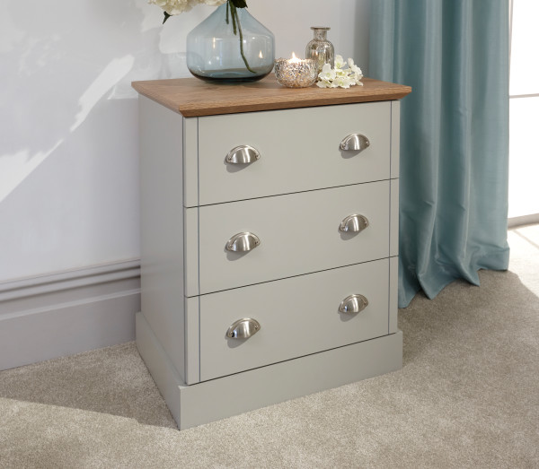 Kendal 3 Drawer Chest in Grey £99