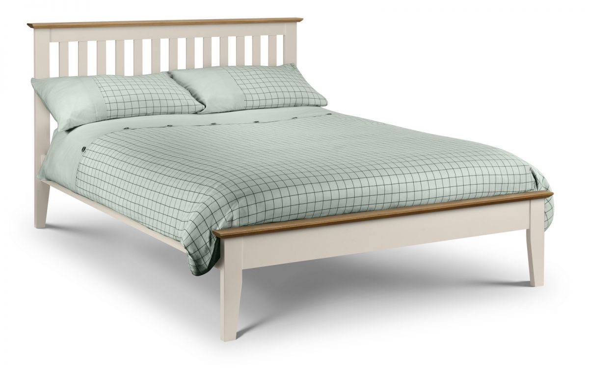 Salerno Two Tone Oak and Ivory Wooden Bed Frame from £189
