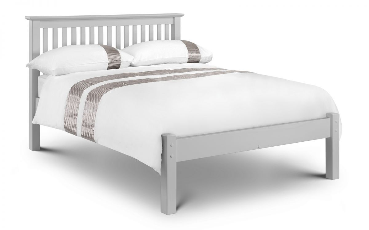 Julian Bowen Barcelona Dove Grey 4ft6 Double Wooden Bed