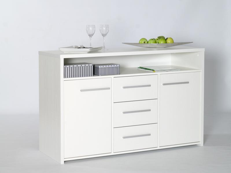 3 Drawer 2 Door Sideboard White