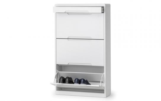Manhattan Shoe Cabinet with Drawer - White £169