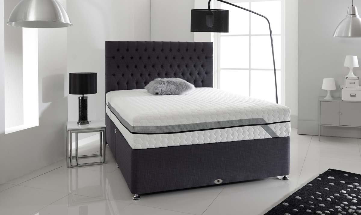 Shire Active Response Breeze Cool Blue Memory Divan Set from £499