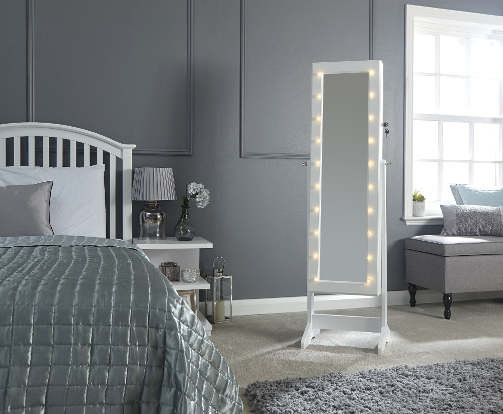 Amore White LED Jewellery Armoire Mirror £89