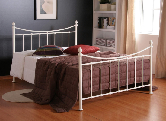 TIME LIVING Alderley Double Ivory Metal Bed Frame from £156.98