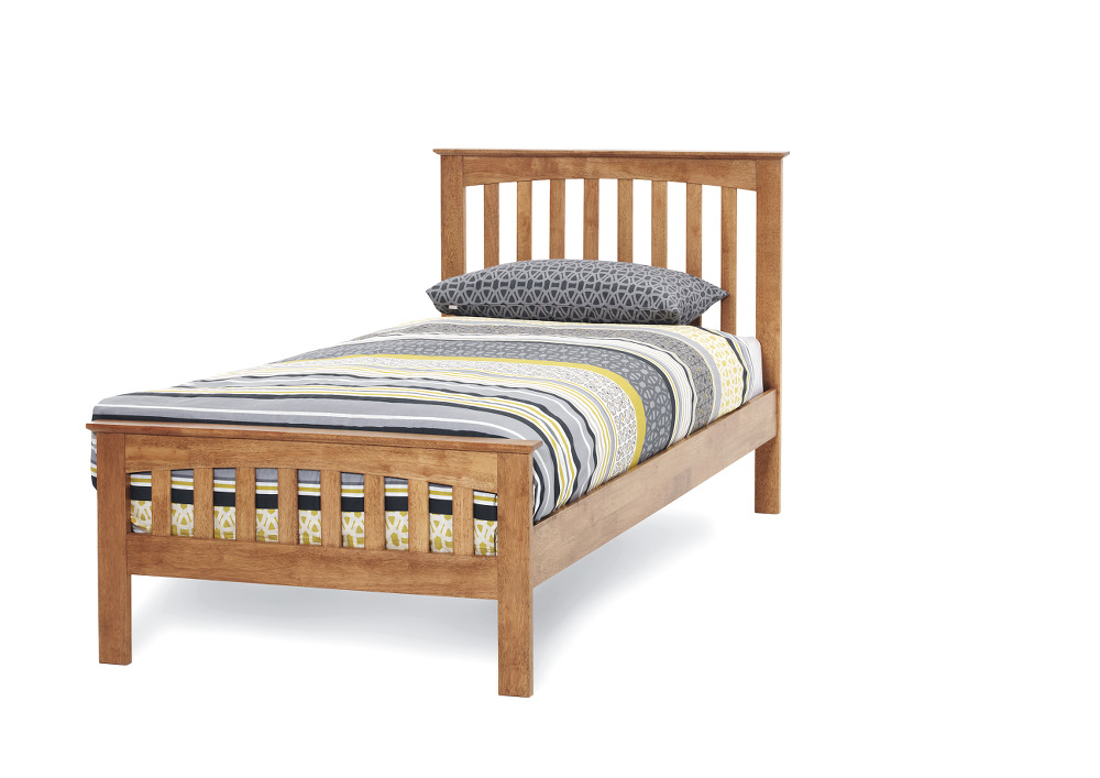Serene Amelia 3ft Single Wood Bed Frame In Honey Oak £189