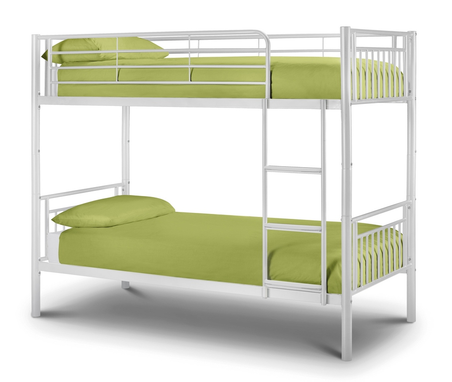 Julian Bowen 3ft Atlas White Metal Bunk Bed Frame £199