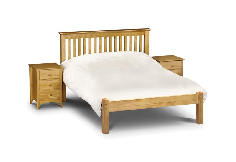 Julian Bowen Barcelona Low Foot End Pine Wooden Bed Frame from £169