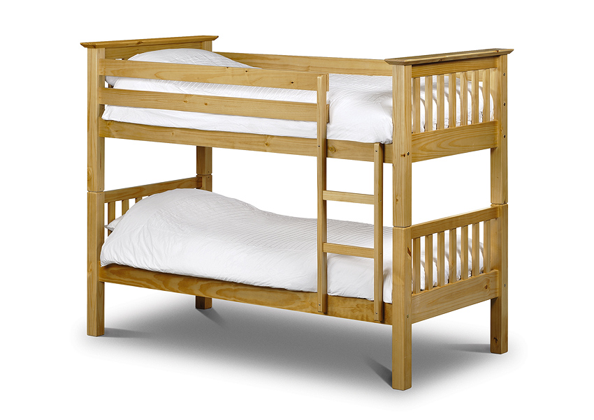 Barcelona Pine Bunk Bed and 2 x 3ft Economy Mattresses