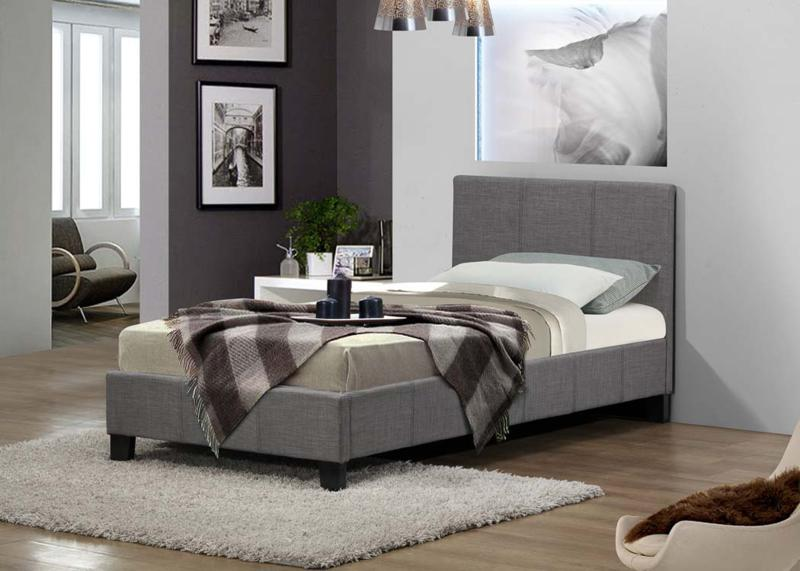 Birlea Berlin 3ft Single Fabric Bed Frame in Grey £109