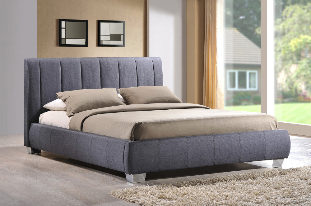 Braunston Fabric Bed Frame in Charcoal Grey £289