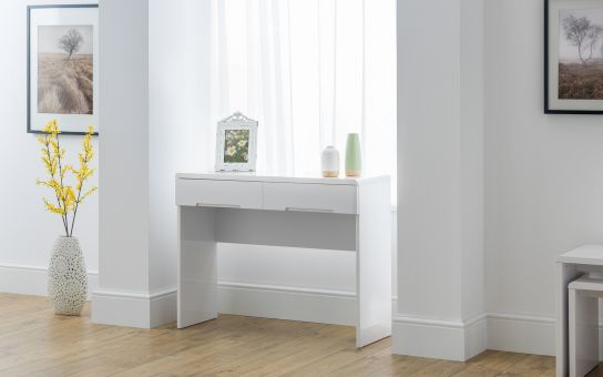 Manhattan Dressing Table with 2 Drawers - White £139