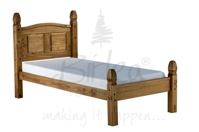 BIRLEA 3FT SINGLE CORONA LOW FOOT END WOODEN PINE BED FRAME £169