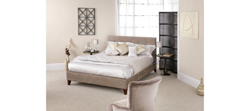 Serene Furnishings Chelsea Fudge Fabric Bed Frame from £279