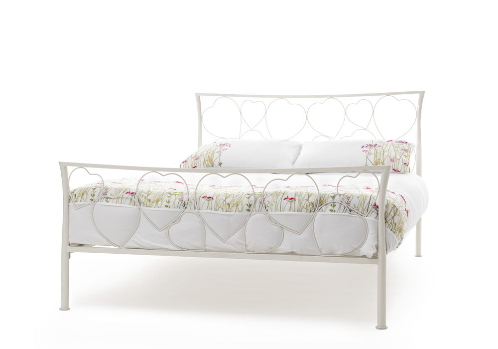 Serene Chloe 4ft6 Double Metal Bed Frame and mattress bundle from £149
