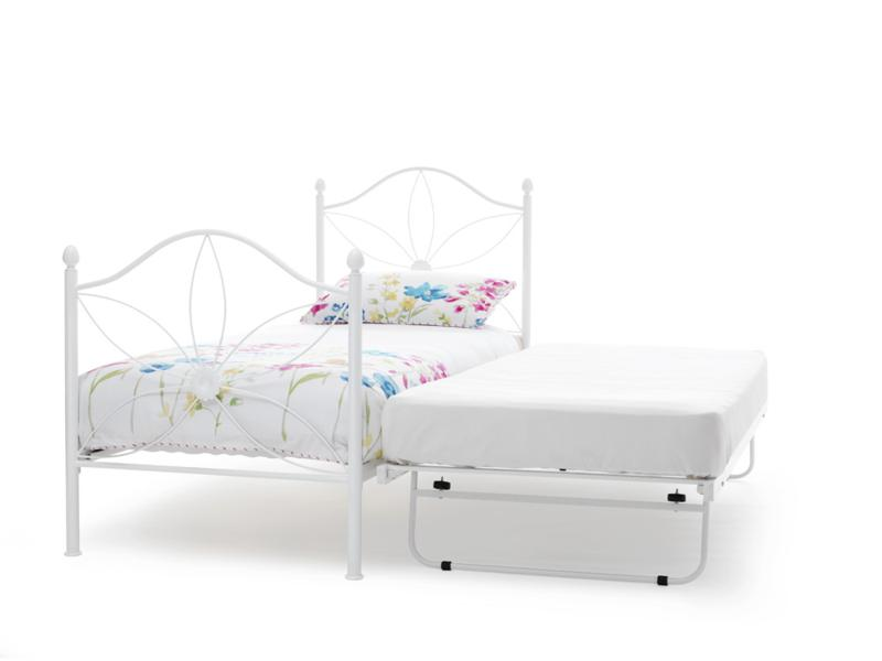 Serene Daisy White Gloss Metal Frame Guest Bed £188