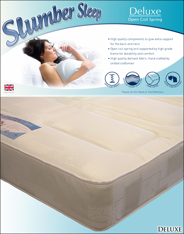 SLUMBER SLEEP 4ft Small Double Slumber Sleep Deluxe Open Coil Mattress