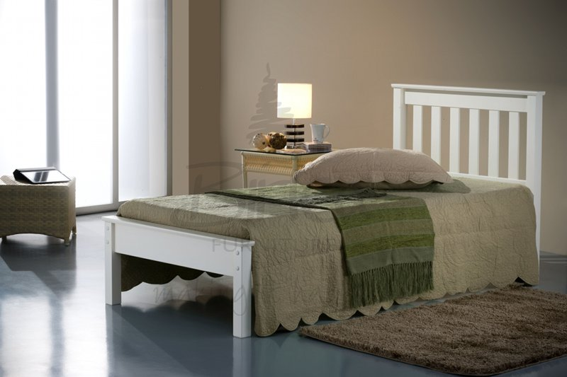BIRLEA Denver 3ft Single Ivory Wooden Frame Bed £149