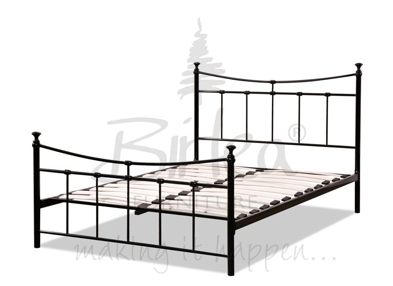 BIRLEA Emily Black Metal Bed Frame from £95