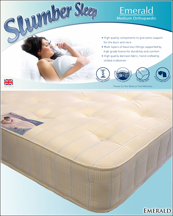 Slumber Sleep Emerald Medium Orthopaedic Mattress from £124.99