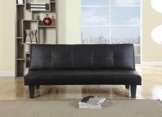Birlea Franklin Black Faux Leather Sofa Bed £169