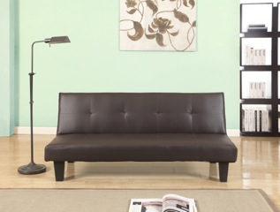 Birlea Franklin Brown Faux Leather Sofa Bed £169