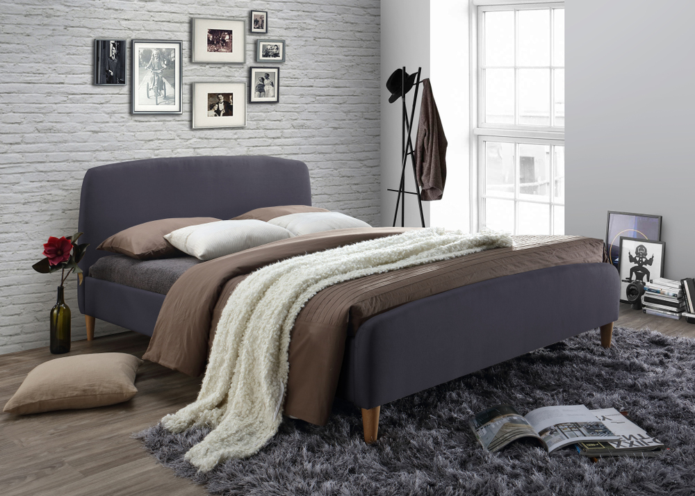 Geneva Grey Upholstered Bed Frame from £229