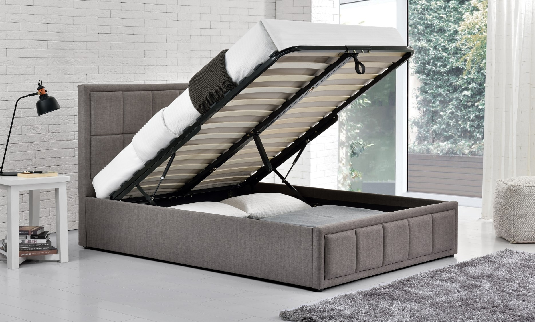 Birlea Hannover 4ft6 Double Ottoman Bed Frame in Grey £299