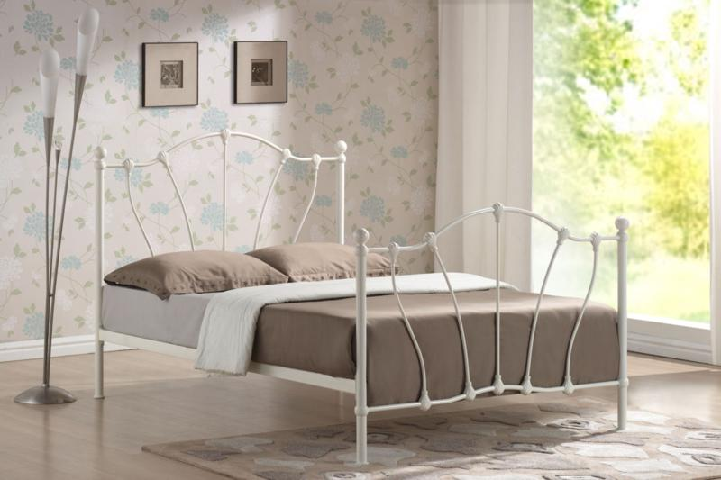 TIME LIVING Hoxton White Metal Bed Frame FREE DELIVERY