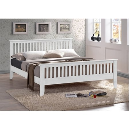 Turin White Wooden 5ft King Size Frame £245