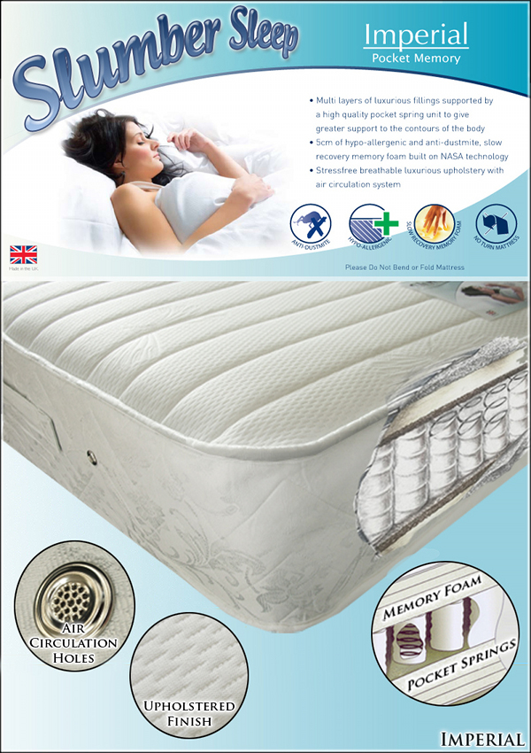 Slumber Sleep Imperial Pocket Memory Foam 1200 Mattress from £179