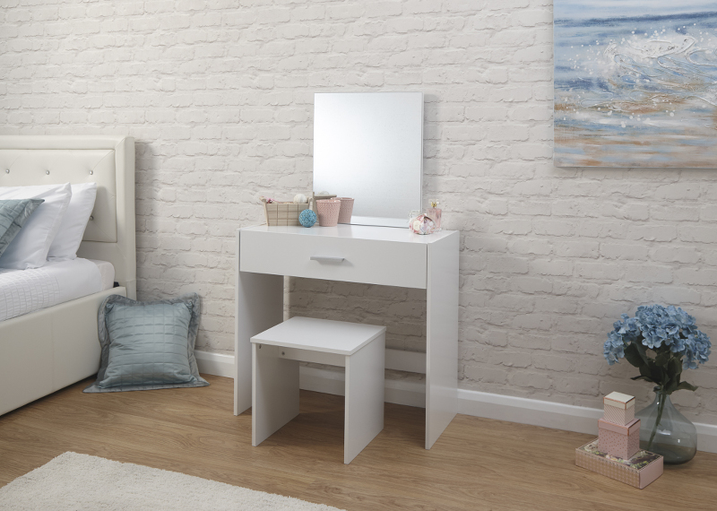 Julia Dressing Table & Stool Set in White £79