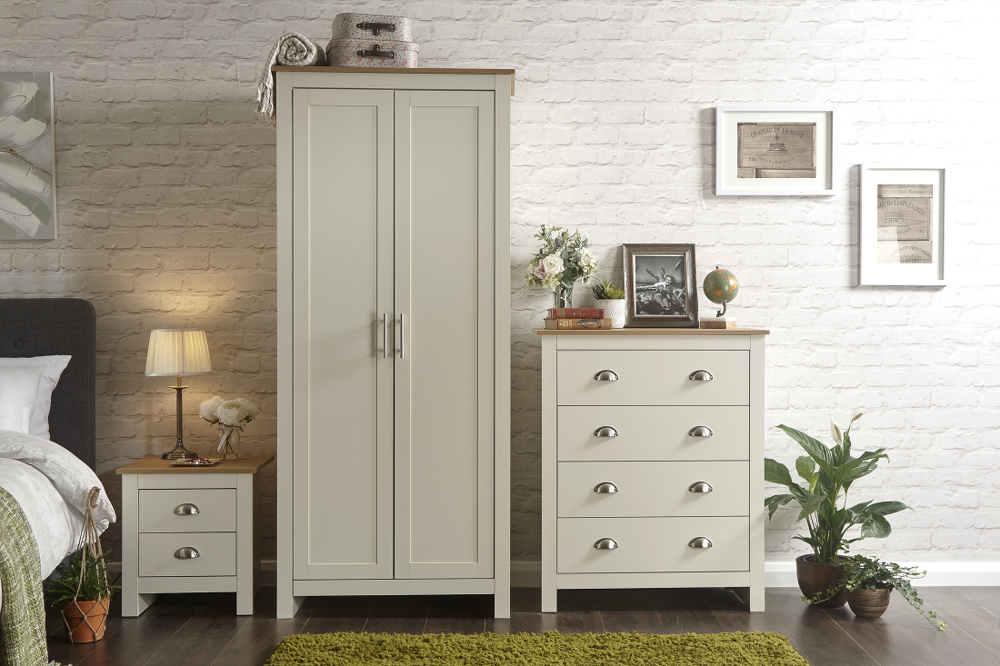 Lancaster 3 Piece Bedroom Set in Cream £249