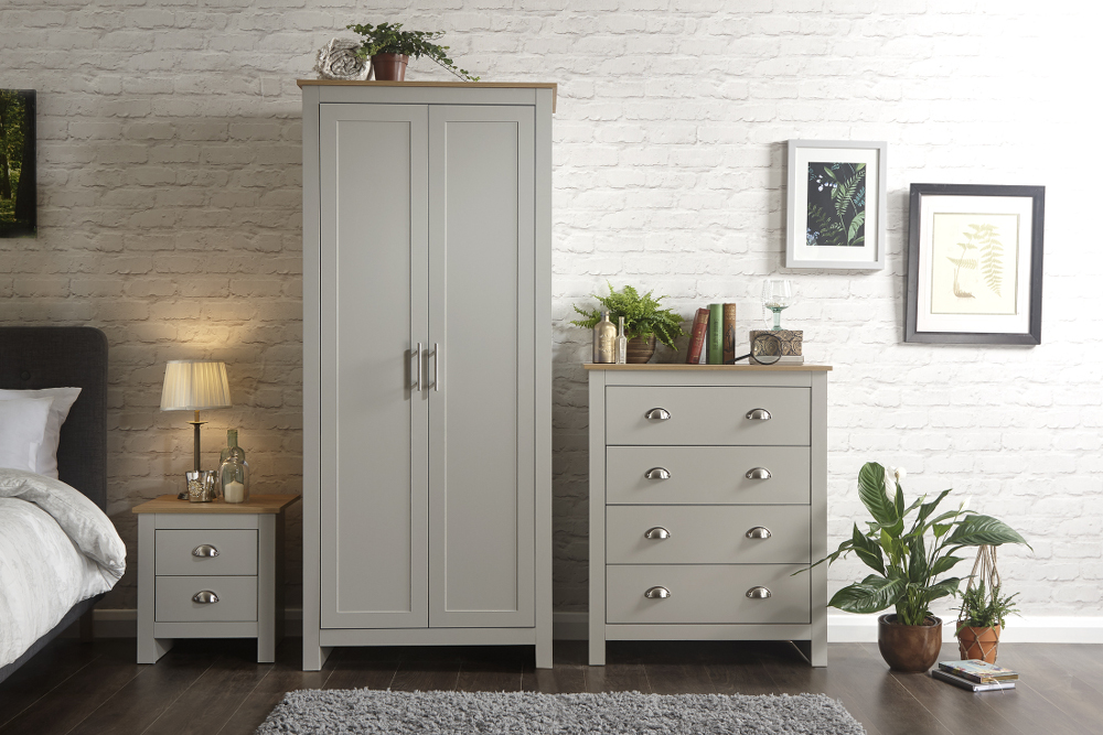 Lancaster 3 Piece Bedroom Set in Grey £249