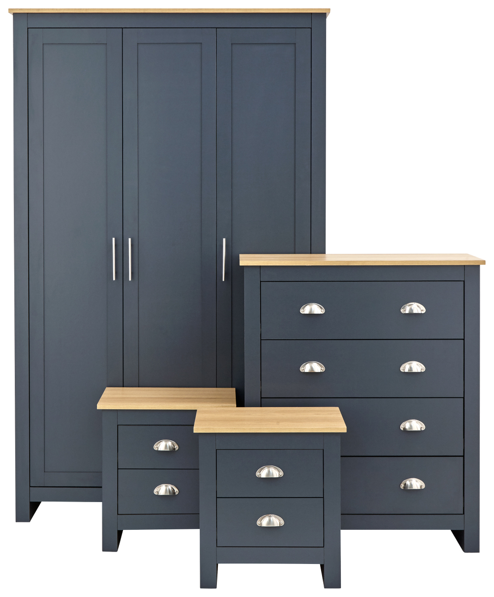 Lancaster 4 Piece Bedroom Set in Blue £339