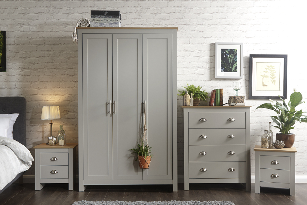 Lancaster 4 Piece Bedroom Set in Grey £339