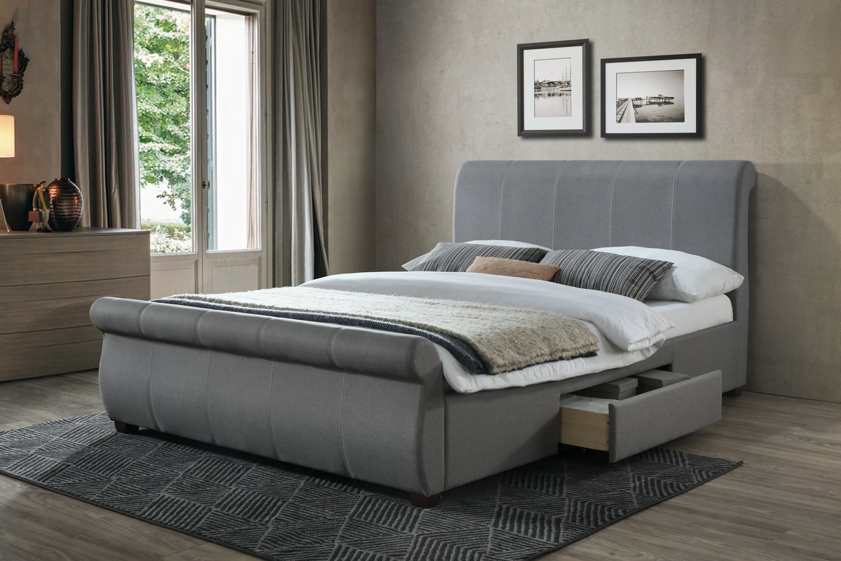 Birlea Lancaster 5ft King Size Grey Fabric Storage Bed Frame £359