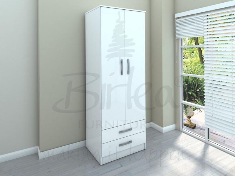 BIRLEA LYNX 2 DOOR COMBI ROBE WHITE HIGH GLOSS £199