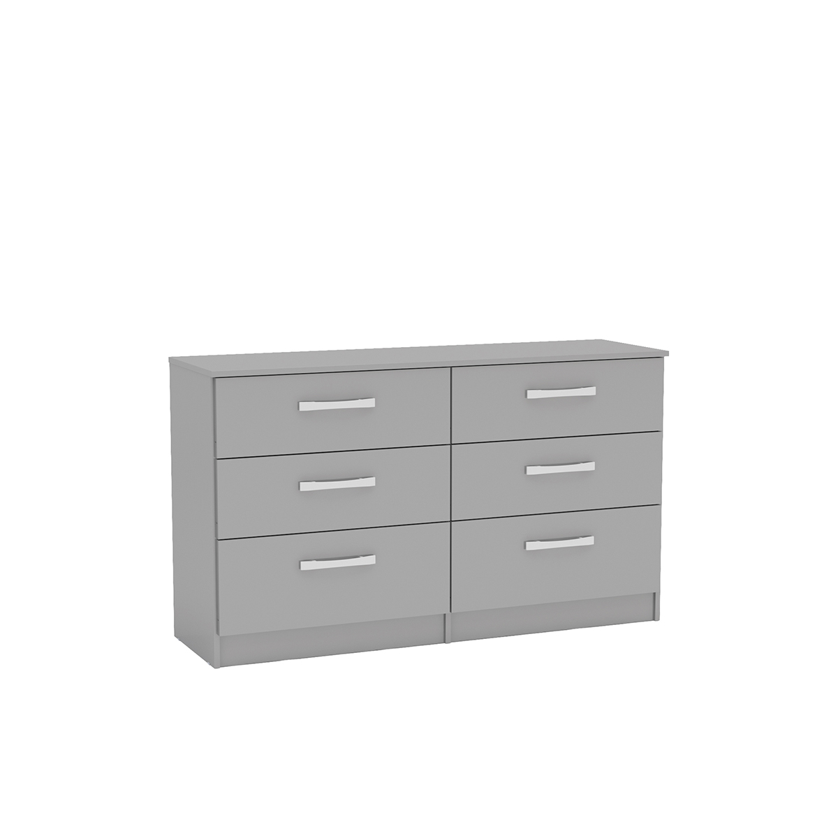 Lynx Grey High Gloss 6 Drawer Wide Chest £164
