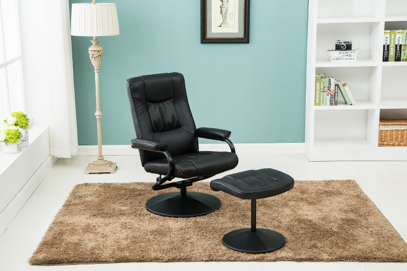Birlea Memphis Swivel Chair and Footstool