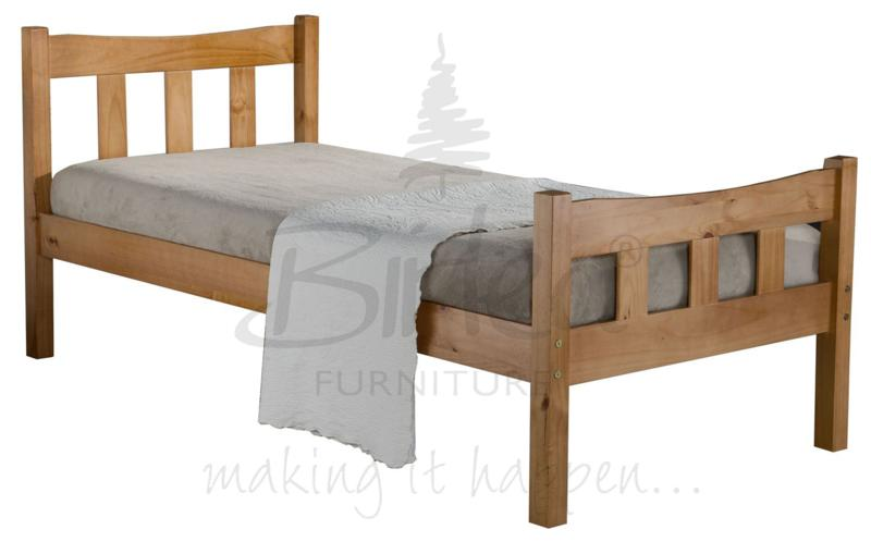BIRLEA Miami 3ft Single Pine Bed Frame £109