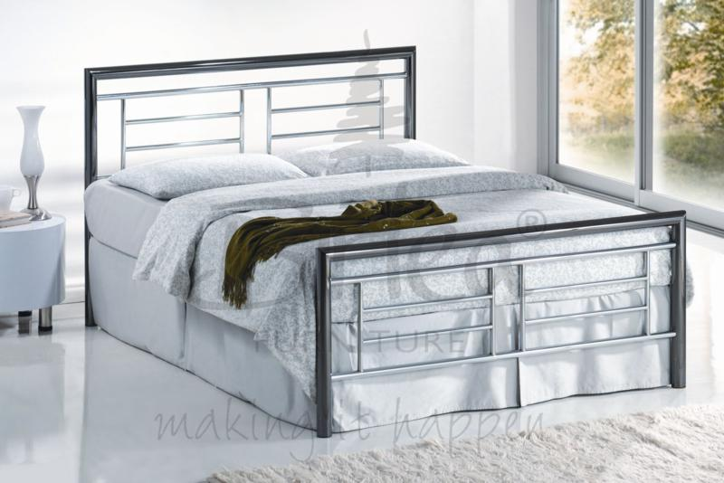 Birlea Montana 4FT6 Double Chrome and nickel Bed Frame