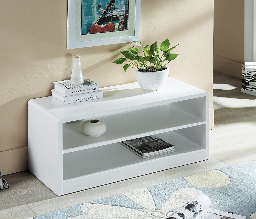 Manhattan Compact TV Unit in White High Gloss £119