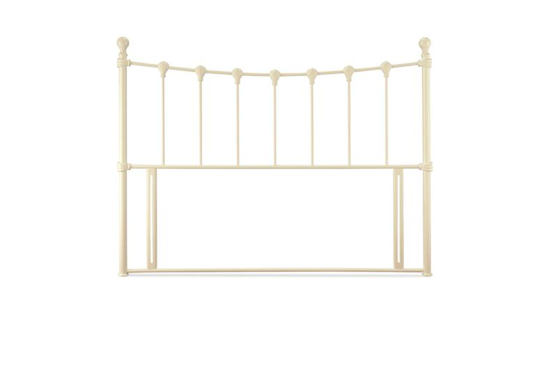 SERENE FURNISHINGS Marseilles Ivory Metal Headboard from £79