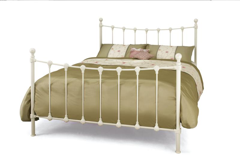 Serene Marseilles Ivory Metal Bed Frame from £149