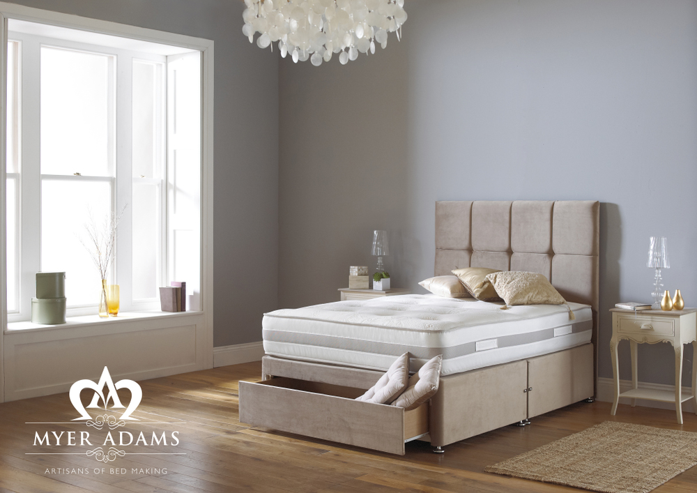 Myer Adams Memory Silk 1000 Pocket Memory Foam Divan Bed from £299